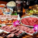 ぐるなび限定!!◆上ロースや上カルビなど質の良いお肉を満喫できるコース<全10品>6050円