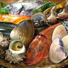 目利きされた新鮮鮮魚を堪能!