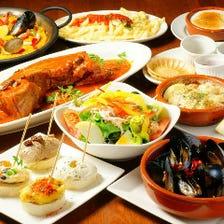 本格派スペイン料理コースは3980円~