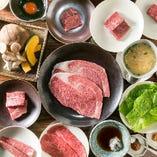 【嘉コース】神戸牛ステーキ、焼きしゃぶ、塩・タレ焼き。良いところを選抜した全9品