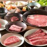 【嘉コース-極-】神戸牛ユッケ付。本日おすすめの上質部位を焼肉でご堪能いただく全11品