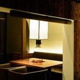 1階にはテーブル席の完全個室もございます