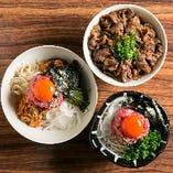 お昼から神戸牛を満喫。焼肉もユッケと丼が付く御膳も必食