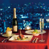 デート・記念日のディナーは東京の夜景と共にフレンチとワインを