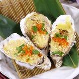 牡蠣のカニ味噌グラタン ~イクラ添え~
