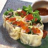 〈広島県尾道〉瀬戸内野菜と豊後鮮魚の生湯葉春巻き
