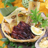 エイヒレ、蛍イカと穴子の干物盛り合わせ