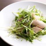 野菜は京都産を使用しています。たっぷりの野菜をお楽しみください。