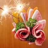 【肉ケーキ】記念日・誕生日のお祝いに【サプライズでお祝いを♪】