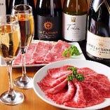焼肉の食べ飲み放題の宴会コースは3500円から各種ご用意。