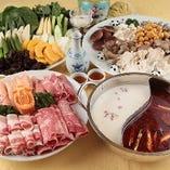 北海道 夢の大地の豚肉の火鍋 4,500円(税抜)コース