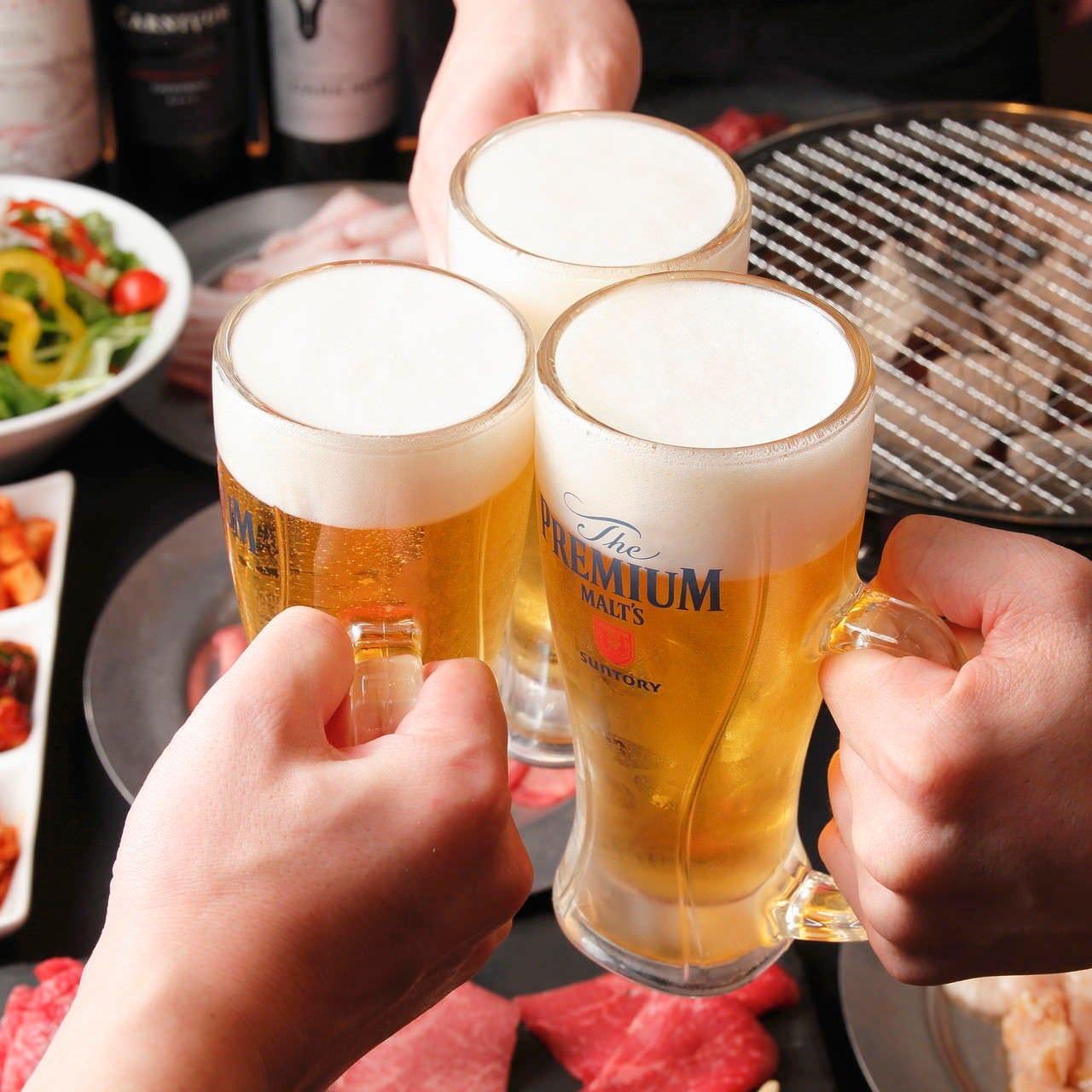 食べ放題コースにお得な飲み放題をお付けすることが出来ます!