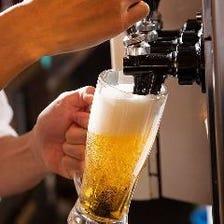 サーバーから注ぐ魅惑の生ビール