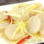 ホタテ貝と黄ニラの炒め