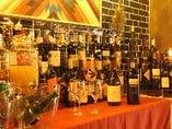 100種類のワインが飲み放題! WINE BUFFET