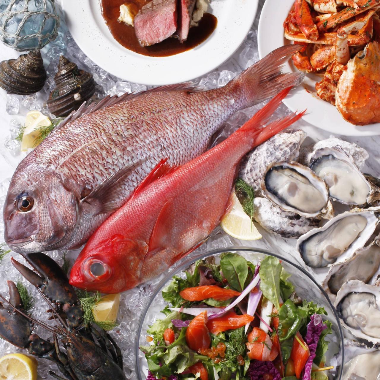 全国の漁港から直送!新鮮な魚介類!