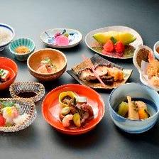 ◆【ランチ・ディナー】料理人の技が光る至高の逸品を満喫『京会席コース ~鳥~』<全10品>