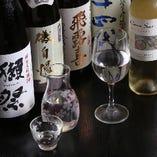日本酒と共にワインも厳選してご提供致します。