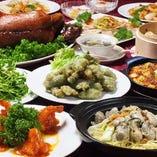 北京ダックと福建郷土海鮮饗宴コース