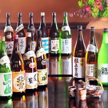 越後の地酒15種も含む充実の飲み放題