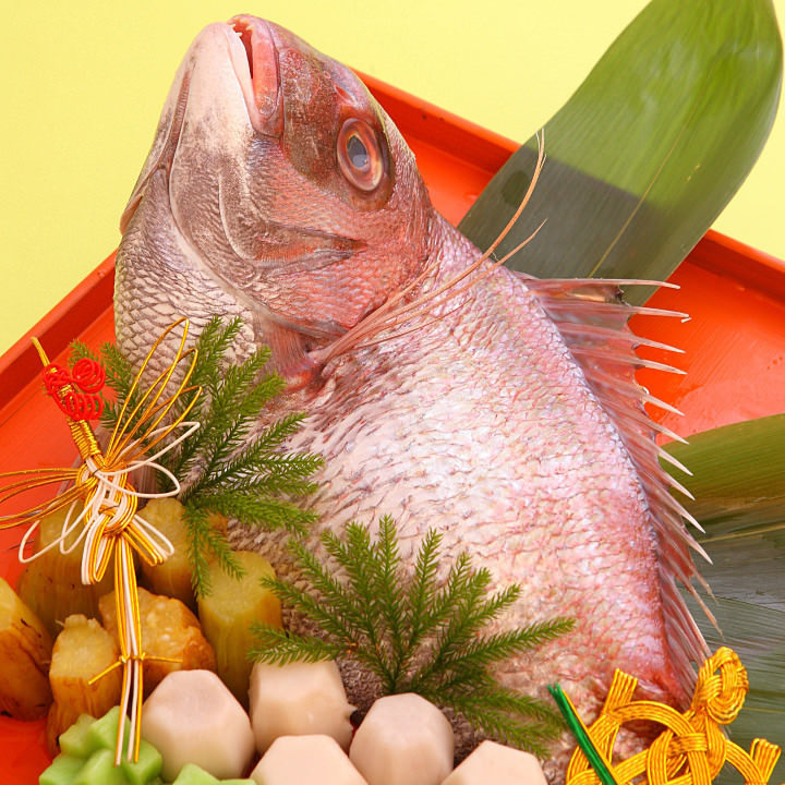 金沢のお祝い料理〈鯛の唐蒸し〉