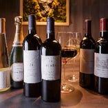 お肉に合うワインを世界中から厳選してご用意いたします。