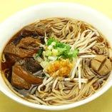 細米麺、牛すじ・牛団子入り(牛ガラスープ)