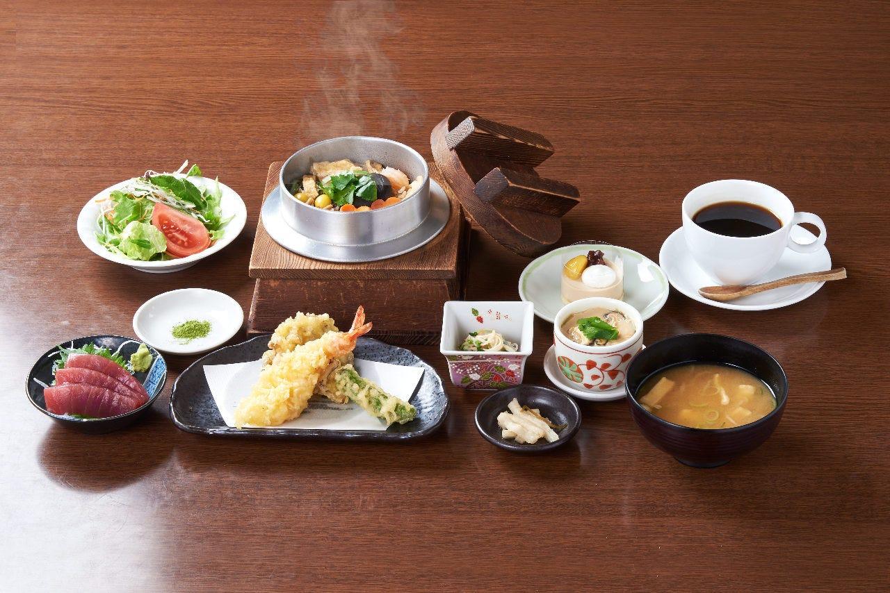 ■お得な昼宴会!4,500円ランチコース 2H飲み放題付 全9品 ※選べる釜飯・天ぷら付き