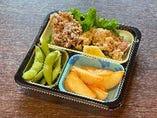 若鶏の唐揚げ・ポテトフライ・枝豆