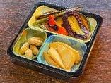 野菜焼き・茹で落花生・ポテトフライ