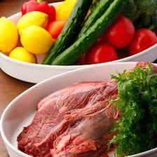 肉をふんだんに使用した自慢のお料理