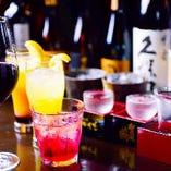 種類豊富な〈お飲み物〉【焼酎からワインまで】