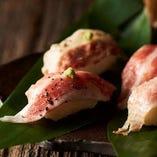 バラ炙り寿司