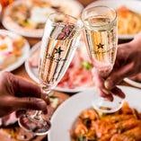 【大小宴会に】 最大2.5H飲み放題付のコースがございます!