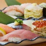 【熟練職人の本格寿司】 旬の魚介のネタをリーズナブルに堪能◎
