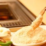 油を含みにくい細かいパン粉でカラッと揚がる♪