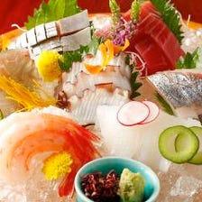 豊洲市場より毎朝仕入れる旬の鮮魚