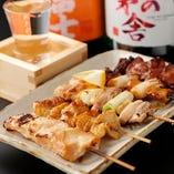 焼き鳥と日本酒は好相性。至極のひとときをお過ごしください