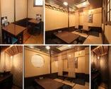 1階、椅子席、合部屋座敷、2人個室(指定予約不可)