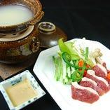 寒い季節には「津軽鴨」を蕎麦切 砥喜和特製「蕎麦湯鍋」で。