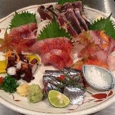 築地直送の新鮮な魚料理