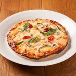 【人気NO.3】 ピザ 手作りベーコンとマッシュルームチーズ
