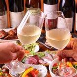 店長オススメのワインをグラスでご堪能いただけます