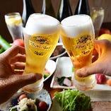 飲み放題は生ビールもお楽しみいただけます!