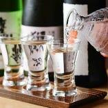 季節の日本酒を仕入れています