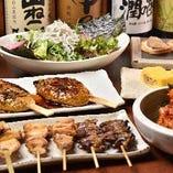 2時間飲み放題付きのコースは3500円(税抜)から、各種ご用意!