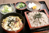 ミニ丼 + 温蕎麦 or 冷蕎麦(7種類)