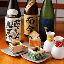 日本酒は常時80種以上グラス550円~