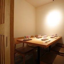 4名様~10名様まで個室を完備。