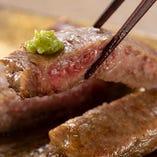 A5松阪牛のステーキ